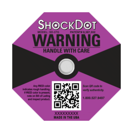 ShockDot 37G impact indicators