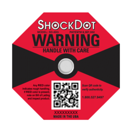ShockDot 50G impact indicators