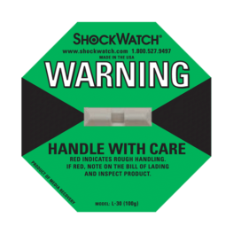 Shockwatch label L30/100g impact indicators