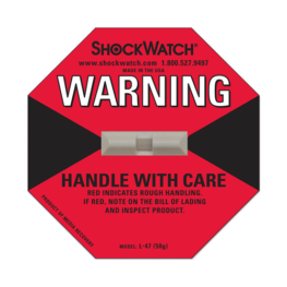 Shockwatch label L47/50g impact indicators