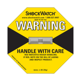 Shockwatch label L65/25g impact indicators