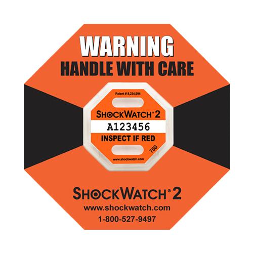 Shockwatch2 75G impact indicators