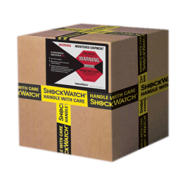 Shockwatch Label and Alert Tape on box