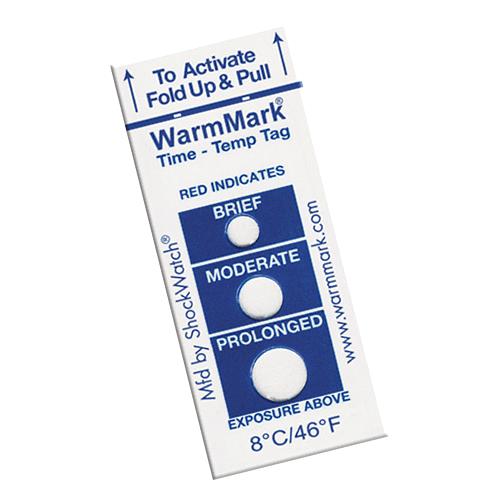 WarmMark temperature indicator