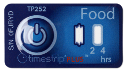 Timestrip food temperature indicator 5C