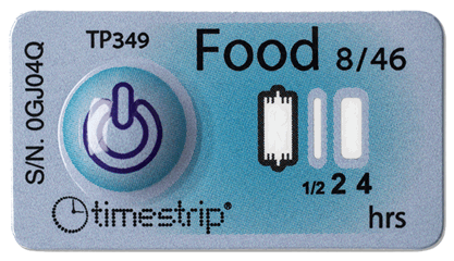 timestrip food temp indicator 8C