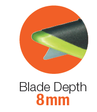 Slice BCAR blade depth