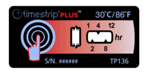 Timestrip PLUS temperature indicators TP136 30C