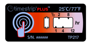 Timestrip PLUS temperature indicators TP217 25C