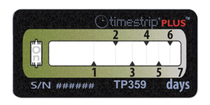 Timestrip PLUS temperature indicators TP359 10C 7DAY