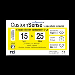 CustomSense temperature indicator CONTROLLED ROOM TEMPERATURE (CRT)