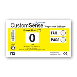 CustomSense temperature indicator FREEZE