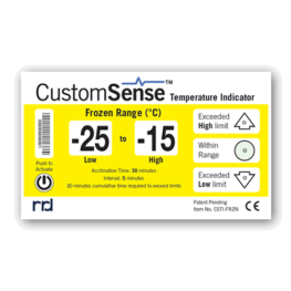 CustomSense temperature indicator FROZEN