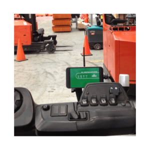 AC-50 mounted on forklift front angle