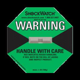 Shockwatch label L30/100g impact indicators