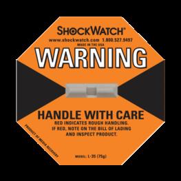 Shockwatch label L35/75g impact indicators