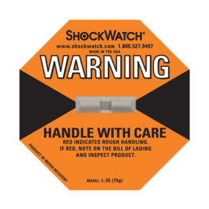 Shockwatch label L35/75g impact indicators