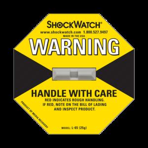 Shockwatch label L65/25g impact indicators