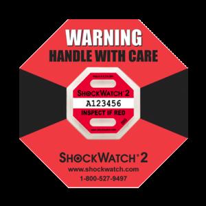 Shockwatch2 50G impact indicators