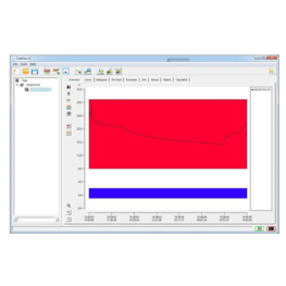 Trekview software temperature recorded curve tab screen