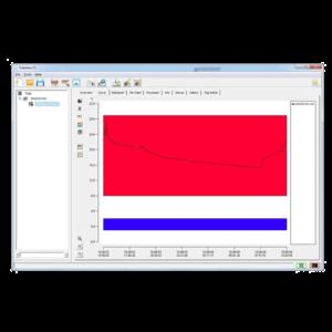 Trekview software temperature recorded curve tab screen