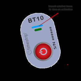 Blood Temp 10 temperature indicator activated