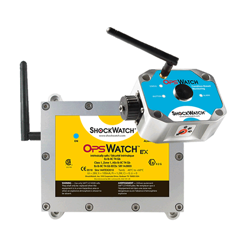 OpsWatch wifi impact and vibration recorder