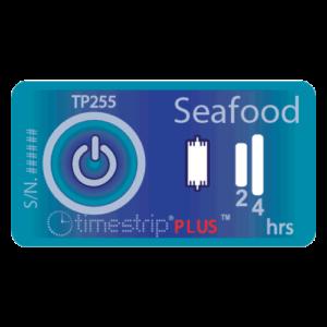 Seafood temperature indicator