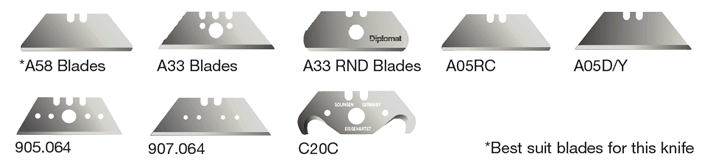 Diplomat Ultra Dual Action Safety Knife blades