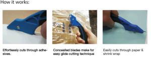 Diplomat FALCON film slitter safety knife how it works