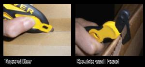 Klever X-Change DX concealed safety knife how it works