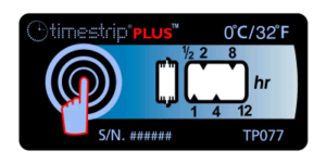 Timestrip PLUS temperature indicators 0C