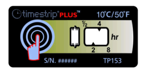 Timestrip PLUS temperature indicators TP153 10C