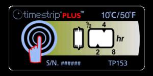 Timestrip PLUS temperature indicators TP153 10C