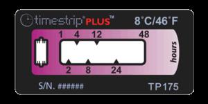 Timestrip PLUS temperature indicators TP175 8C 48hr