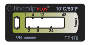 Timestrip PLUS temperature indicators TP176 10C 48HR