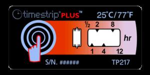 Timestrip PLUS temperature indicators TP217 25C