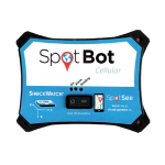 SpotBot impact monitoring and tracking recorder front view