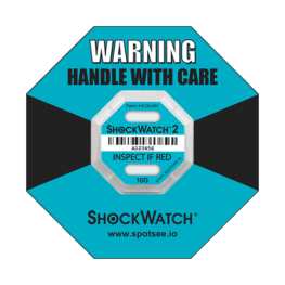 Shockwatch2 10g impact indicator with ring label