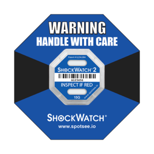 Shockwatch2 15g impact indicator with ring label