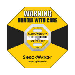 Shockwatch2 25g impact indicator with ring label