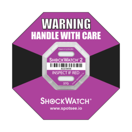 Shockwatch2 37g impact indicator with ring label