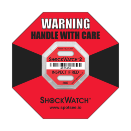 Shockwatch2 50g impact indicator with ring label