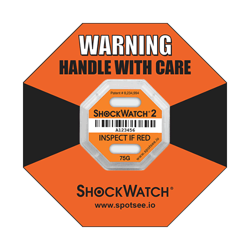 Shockwatch2 75g impact indicator with ring label