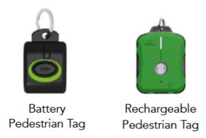 Pedestrian Alert System Tags