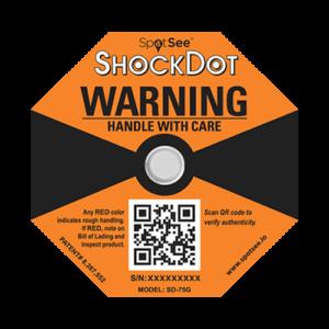 ShockDot 75G impact indicators