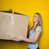 Cardboard Box Woman