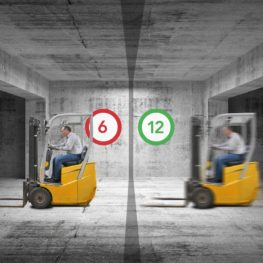 Limit forklift speed in areas of the warehouse with LSA